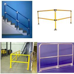 Hoists cranes conveyors buildings guard rails for Mezzanine guard rail