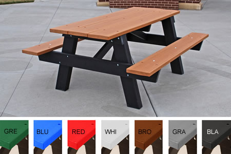 A Frame And Galvanized Frame Tables Picnic Tables Site Furnishing - Galvanized picnic table frame