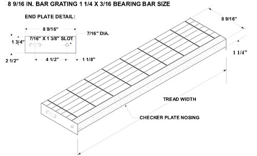 Bar Grating Stair Treads Galvanized Treads