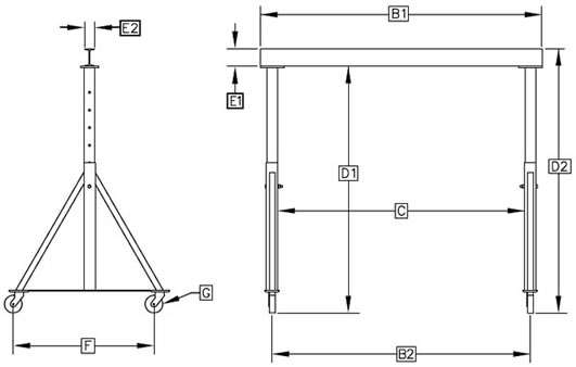 gantry, cranes, hoist, gantry crane, gantry cranes a diagram for a frame hoist