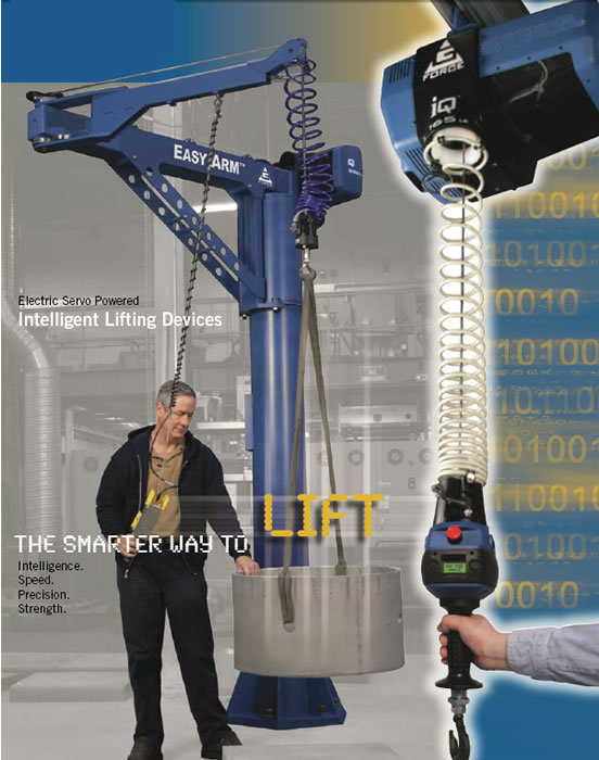Easy Lift Assist Arm : Easy arm intelligent lifting g force jib cranes