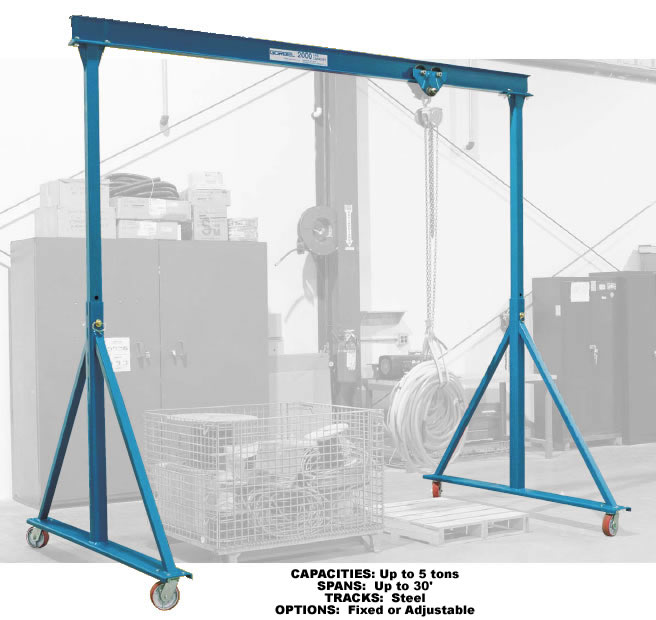 Adjustable Height Fixed Height Steel Gantry Cranes