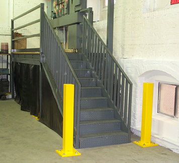 Heavy Duty Safety Bollards Bollard Guard Rails Guardrail Protective Guards