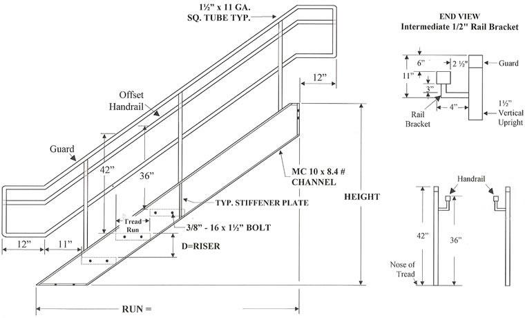 boca prefab stairways  commercial stair  galvanized stairs  industrial stair  metal stair  open