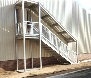 Galvanized Ibc Stair Landing