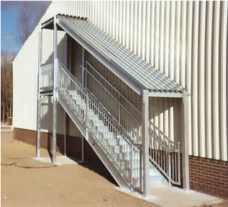 Galvanized Ibc Stairs Stair Landing Prefab Steel Stairways