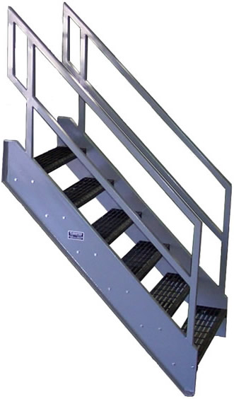 Galvanized stairs metal stairs osha prefab stairways for Prefab staircase