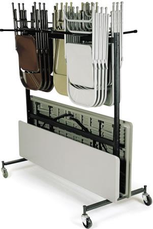 Hanging Folded Chair Storage Trucks, Folding Chair Moving, Folding ...