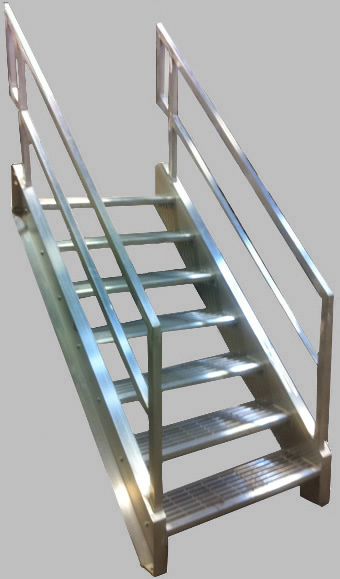 Beau Welded Aluminum Prefab Stairways, Galvanized Stairs, Industrial Stairs, Metal  Stairs, Open Tread Stair, OSHA Prefab Stairways