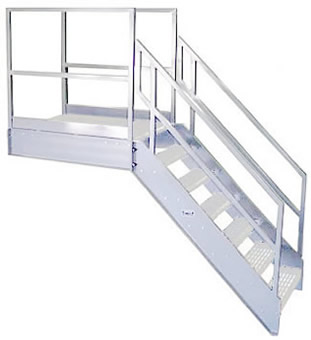 Welded Aluminum Prefab Stairways, Galvanized Stairs, Industrial Stairs, Metal  Stairs, Open Tread Stair, OSHA Prefab Stairways