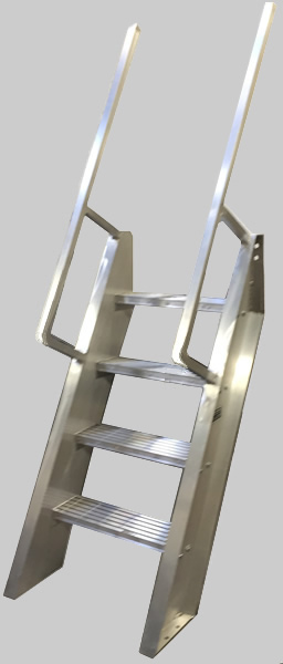 Welded Aluminum Ships Ladder Hatch Access Roof Access